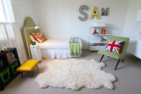 vintage boys bedroom