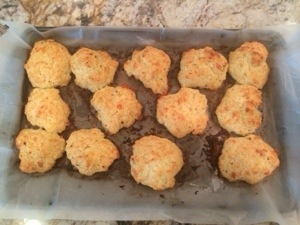 cheddar biscuits with butter