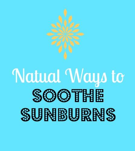 Natural ways to soothe sunburned skin