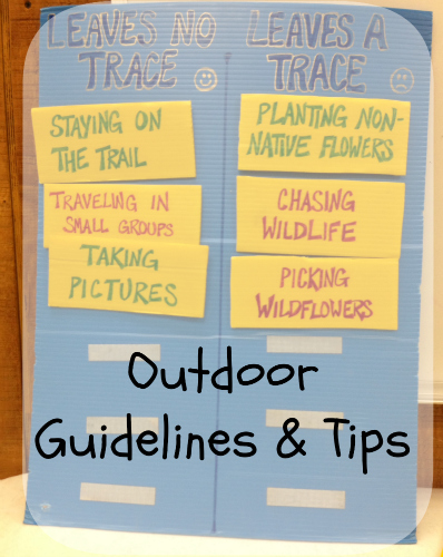 outdoor guidelines, camping tips