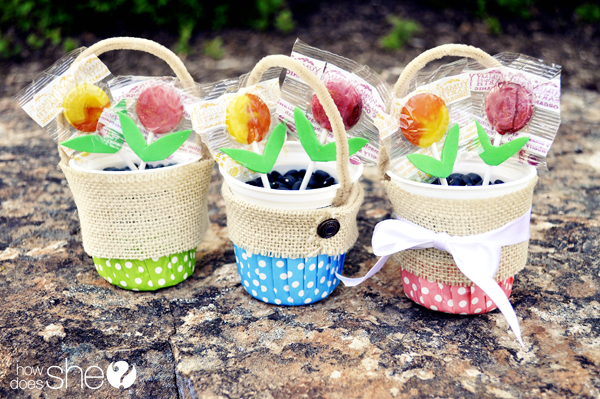 May Day Lollipop Baskets