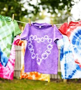 Tie-dye summer activities for kids