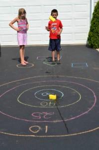 Sponge Bullseye summer activities for kids