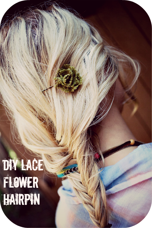 DIY Lace Flower Hairpin