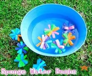ideas for summer fun- DIY sponge water bombs