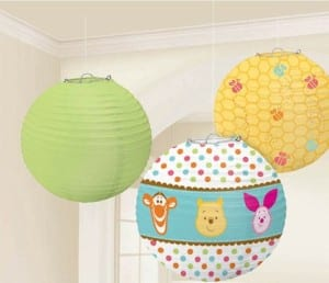 awesome baby shower decorations- paper lanterns