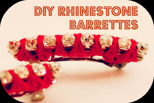 DIY Rhinestone Barrette