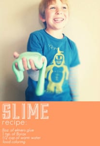 slime recipe summer activities for kids