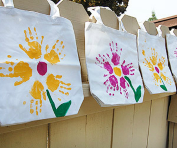 inexpensive mother's day activities, mother's day, decorated totes
