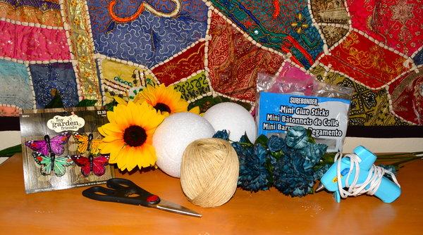 DIY Hanging Flower Ornaments Supplies