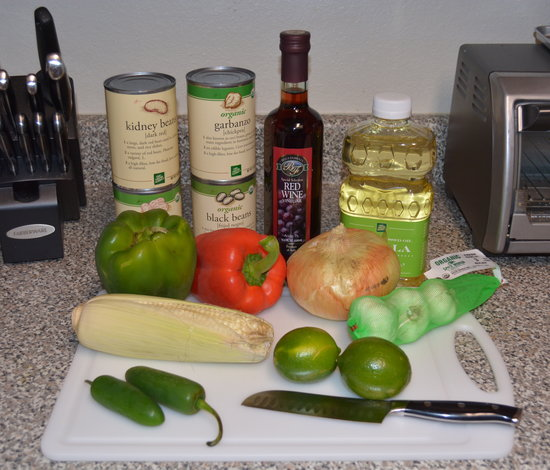 Vegan Pepper and Bean Salad Ingredients
