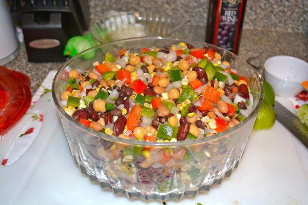 Vegan Pepper and Bean Salad