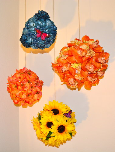 DIY Hanging Flower Ornaments