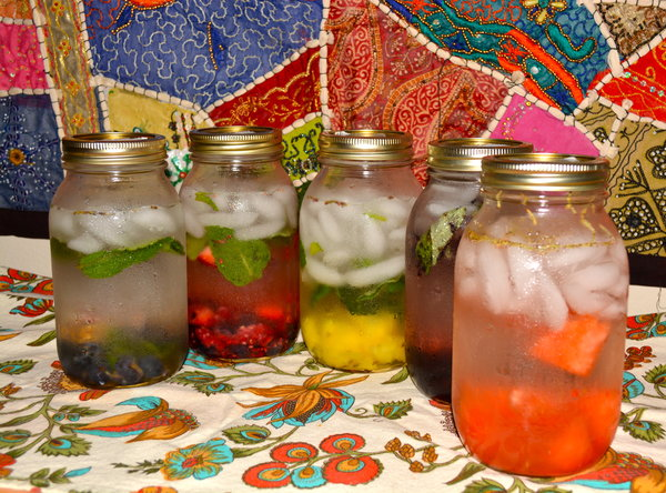 Fresh Fruit Infused Water Recipes and Herb Infused Water Recipes