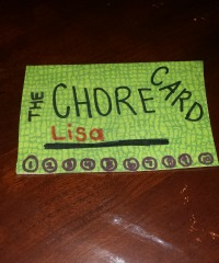 Chore Card front