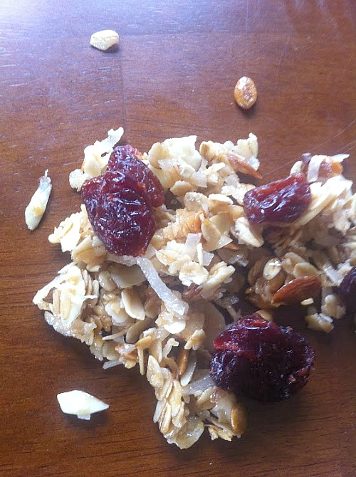 Close up of Farmer's Market Granola- Recipe at Family Focus Blog