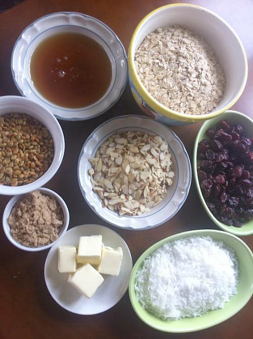 Farmer's Market Granola Ingredients