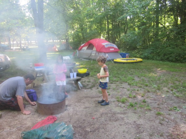 family camping gear