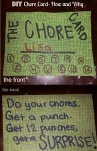 how to make a chore card DIY
