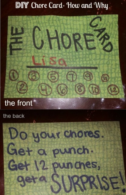 how to make a chore card DIY