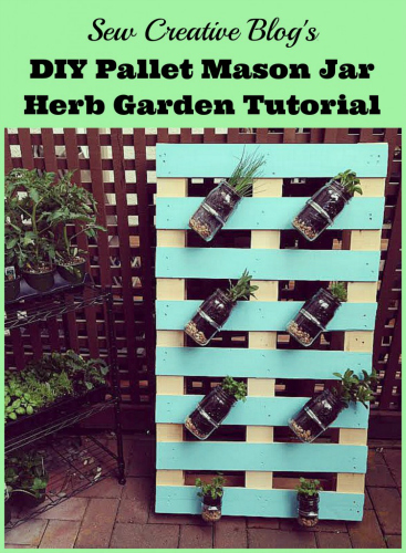 pallet mason jar planter, pallet furniture, DIY pallet
