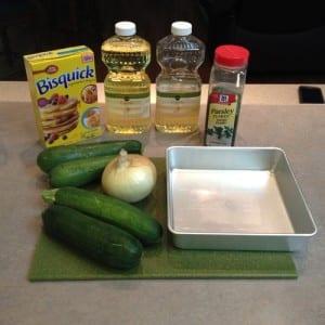 Zucchini Pie ingredients