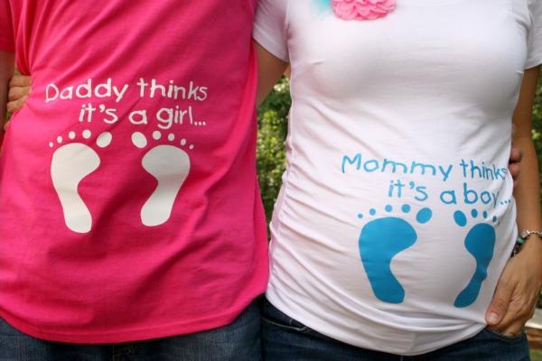 Baby Gender Reveal tshirts