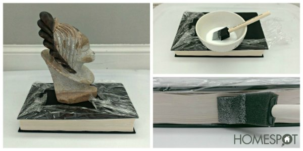 gluing book pages