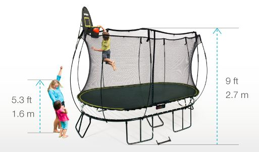 oval springfree trampoline