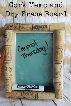 DIY cork and dry erase memo board