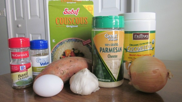 Sweet Potato Couscous Burgers ingredients