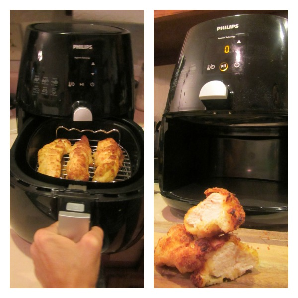 chicken tenders in the Philips Airfryer