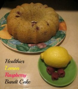 healthier lemon raspberry bundt cake recipe