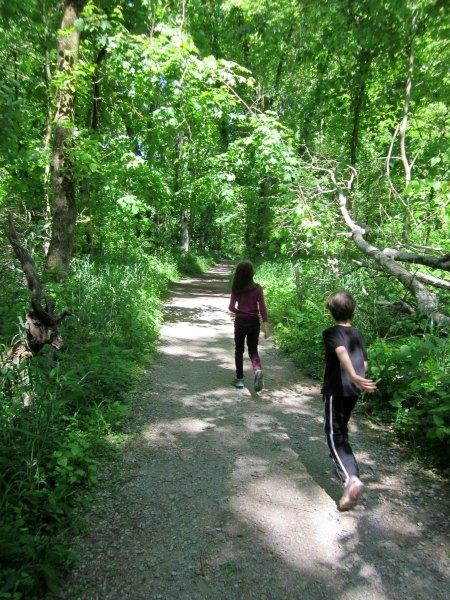 hiking at Warner Park