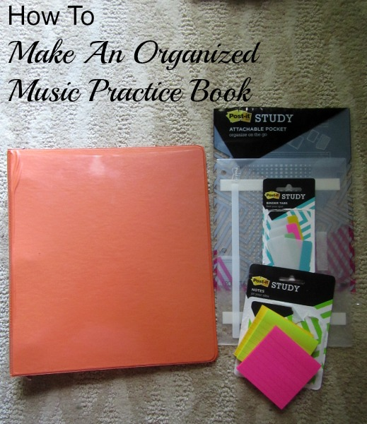 how to make an organized music practice book