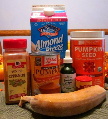 Ingredients for Pumpkin Spice Smoothie Recipe