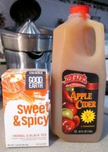 Ingredients for Mulled Apple Cider