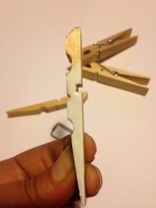Bride painted - Bride Groom Clothespins