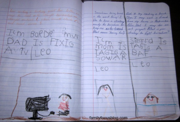 Child's Journal Entry- funny