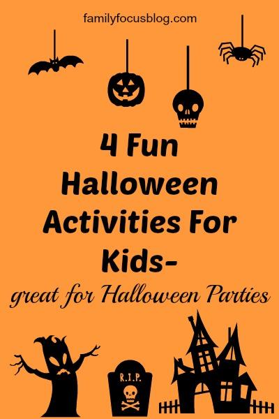 Halloween Activities For Kids Halloween parties