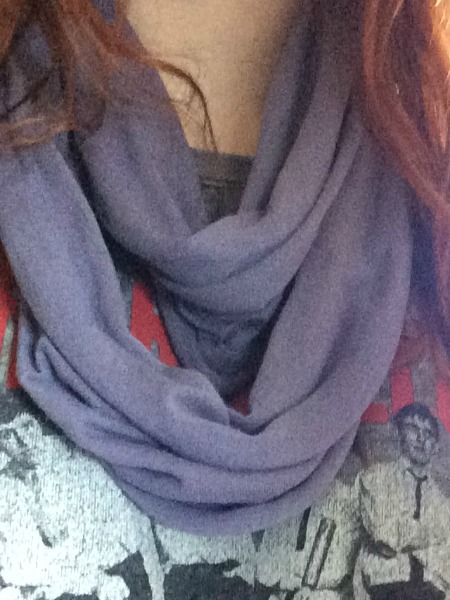 old t shirt infinity scarf