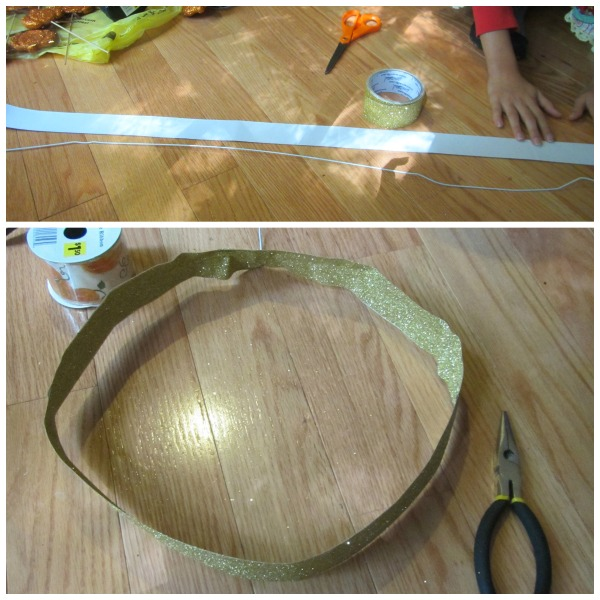 Use Wire Hanger to create wreath base