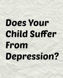 child with depression