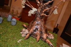 DIY Halloween Graveyard Scene