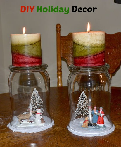 diy glass candle holder decorations