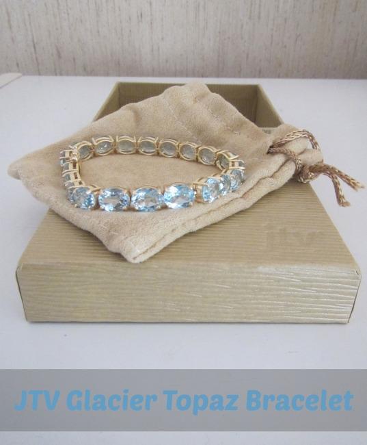 JTV Jewelry Television Glacier Topaz Bracelet