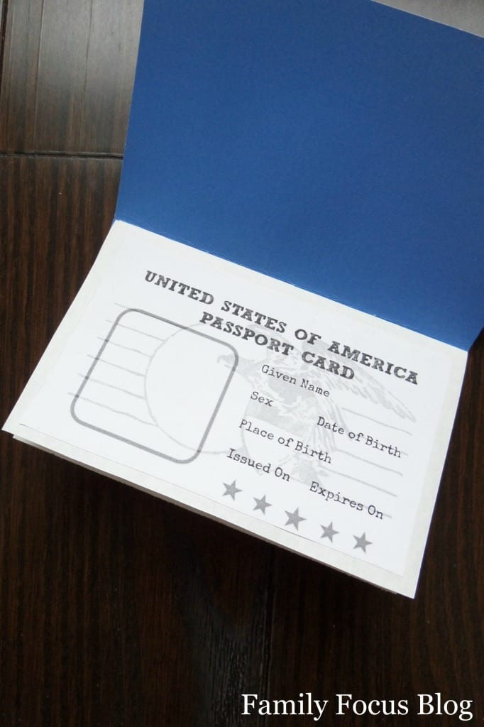 free printable passport activity