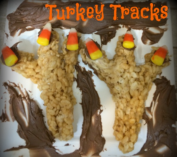 Peanut Butter Turkey Tracks