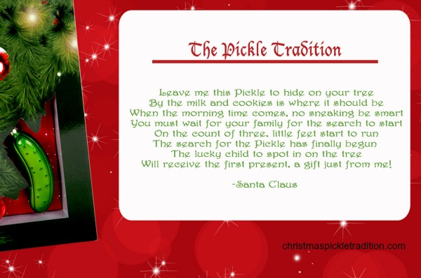 How The Christmas Pickle Tradition Works