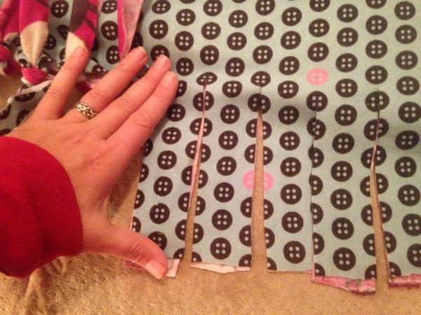 Cutting fringe for DIY blanket edges